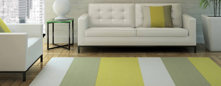 Stripped area rug | The Flooring Place