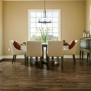 hickory solid hardwood in dining area | The Flooring Place