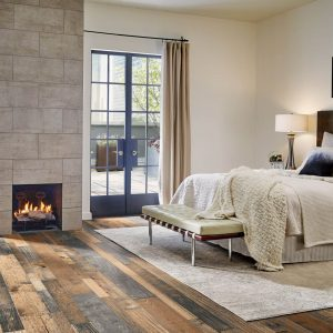 mixed species engineered hardwood in bedroom | The Flooring Place