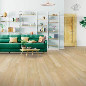light laminate flooring in living room | The Flooring Place
