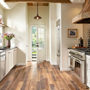 mixed laminate in farmhouse kitchen | The Flooring Place