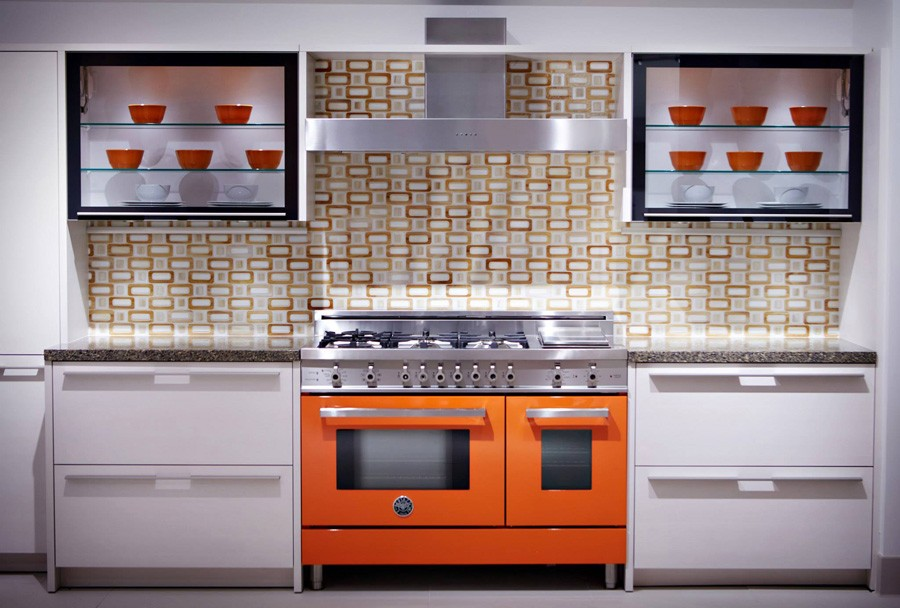 Orange interior for kitchen | The Flooring Place